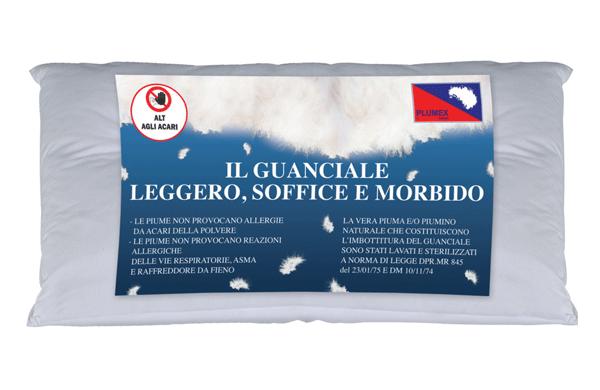 Tipi Di Cuscini Da Letto.Produzione Guanciali E Cuscini Torino Piumini Plumex